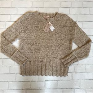 Philosophy Beige Woven Loose-Knit Sweater S NWT